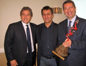 Nella foto: Antonio Giordano, Lello Esposito e Ignazio Marino