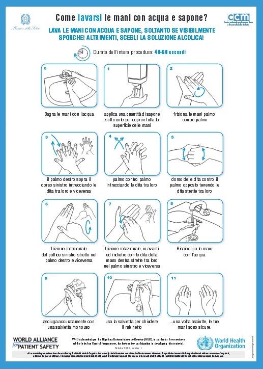lavare mani